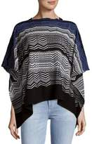 Missoni Patterned Wool Blend Poncho