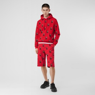 Burberry Monogram Motif Cotton Oversized Hoodie