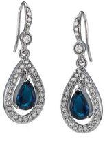 Carolee Blue Crystal Pavé Teardrop Earrings