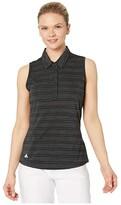 adidas Microdot Polo Sleeveless (Black/White) Women's Clothing