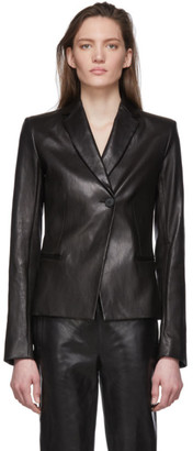 The Row Black Emi Leather Jacket