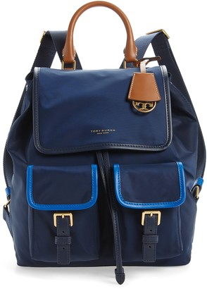 Tory Burch Perry Colorblock Nylon Backpack