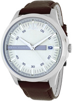 Armani Exchange Classic Collection AX2100 Men's Leather Strap Watch