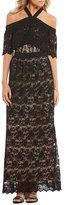 Lucy Paris Off-the-Shoulder Lace Maxi Dress