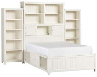 Pottery Barn Teen Beadboard Storage Bed Super Set, Queen, Simply White