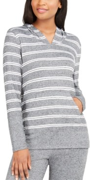 Alfani Striped Supersoft Pajama Hoodie, Created for Macy's