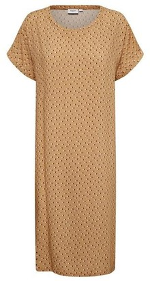 Saint Tropez Amelia Dress In Tan Leaves - S
