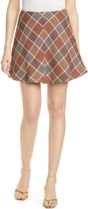 Sams?E Sams?E Kora Plaid Flared Miniskirt