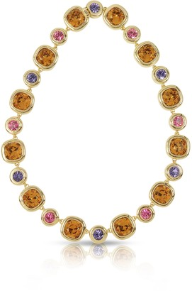 Forzieri Purple, Pink and Orange Crystals Necklace