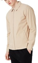 Topman Men's Herringbone Zip Jacket