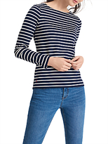Joules Harbour Stripe Long Sleeve Jersey Top