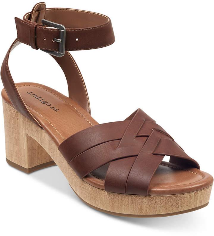 Indigo Rd Darsel Wood-Platform Dress Sandals Women Shoes