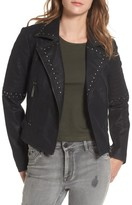BP Women's Studded Faux Leather Moto Jacket