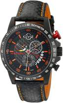 GV2 by Gevril Men's 9902 Scuderia Analog Display Swiss Quartz Black Watch