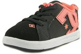DC Court Graffik Elastic Ul Round Toe Leather Skate Shoe.