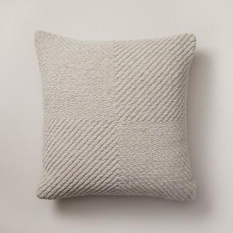 "Oui Woven Chenille Pillow Cover Dove 18"" X 18"""