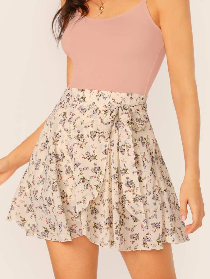 1b70b2b4bc Beige Ruffle Skirt - ShopStyle