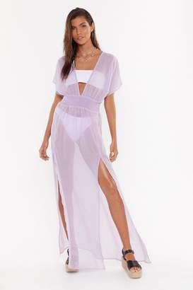 Nasty Gal Womens Tough Slit Cover Up Maxi Dress - purple - 12