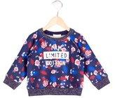 Billieblush Girls' Floral Print Long Sleeve Sweatshirt