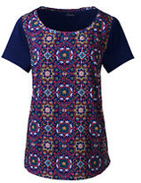 Classic Women's Petite Art T-shirt-Evening Sapphire Moroccan Tile