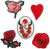 Topman Rose Iron On Badge Set*