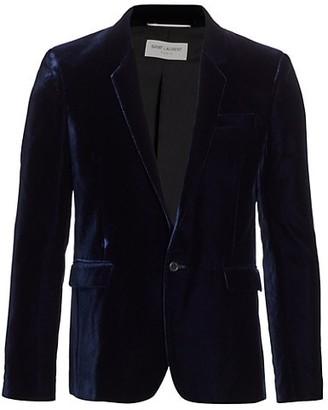 Saint Laurent One-Button Velvet Blazer