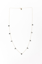 White Sands Big Beaded Flag Necklace By Ild