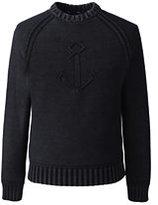 Classic Men's Anchor Drifter Crewneck Sweater-Evening Cobalt Stripe