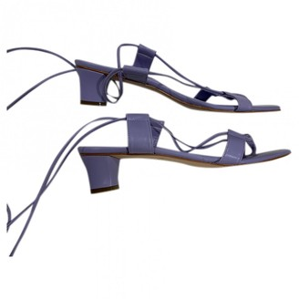Martiniano Purple Leather Sandals
