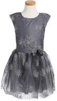 Halabaloo Embroidered Fit & Flare Dress (Toddler Girls, Little Girls & Big Girls)
