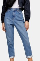 Topshop TALL Mid Stone Ripped Mom Tapered Jeans