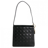 Christian Dior Black Leather Handbag Lady