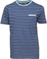 Ben Sherman Junior Boys Multi Stripe Jersey T-Shirt Washed Blue