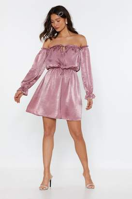 with me. Nasty GalNasty Gal Womens Bare Off-The-Shoulder Satin Dress - Pink - 8, Pink