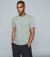 Reiss Williams - Cotton-blend Crew Neck T-shirt in Forest Green