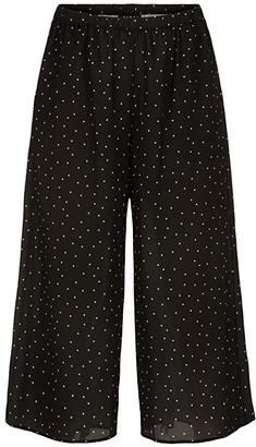 Tribal Pull-On Wide Leg Capris (Black) Women's Casual Pants