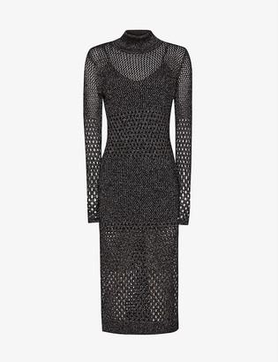 Reiss Antonella open-knit dress