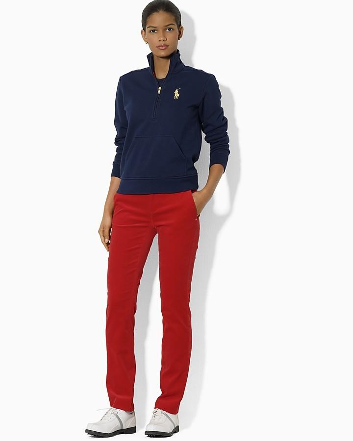 Ralph Lauren Golf Heritage Fleece Long Sleeve Carlee Half Zip Top