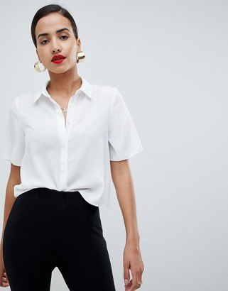 Asos Design DESIGN soft shirt with short sleeves