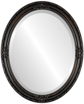 """The Oval And Round Mirror Store Jefferson Framed Oval Mirror in Rubbed Bronze, 18""""x22"""""""