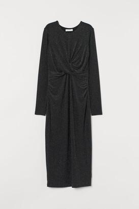H&M MAMA Glittery Dress - Black