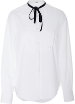 ADAM by Adam Lippes Chantilly Lace Trim Blouse