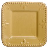 Signature Housewares Sorrento Collection 6-Inch Square Plate, Gold Antiqued Finish