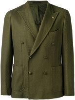 Tagliatore double breasted blazer - men - Cotton/Cupro - 46