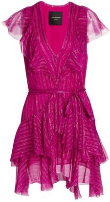 le superbe Flirt Metallic Stripe Mini Dress