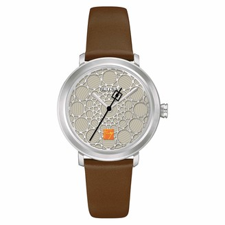 Bulova Women's Quartz Stainless Steel and Leather Dress Watch