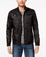 INC International Concepts Men's Faux Leather Trim Bomber Jacket, Created for Macy's