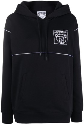Moschino Teddy Bear logo-patch hoodie