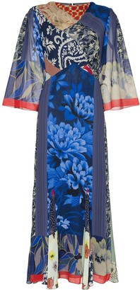 Etro Silk Patchwork Midi Dress