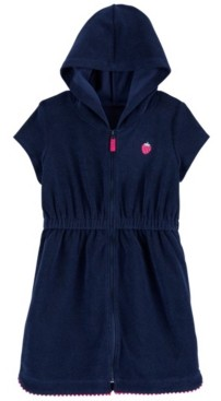 Carter's Big Girls Strawberry Hooded Cover Up